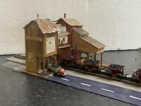 Marklin spur z scale/gauge. Talbot Car Set + Scratch Built Coal Depot.