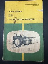 Original John Deere 25 3-point Hitch Sprayer Operator's Manual