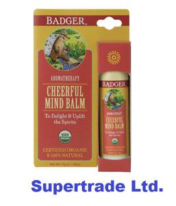 Badger Cheerful Mind Balm Delight & Uplift Spirits Sweet Orange Aromatherapy 17g