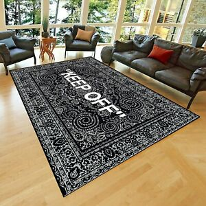 KEEP OFF classic Patterned Carpet , Fan Carpet Non Slip Floor Carpet,Teen's Carp