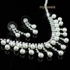 Pearl Silver Plated Fashion Jewellery Sets