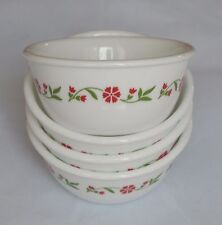 4 New Corelle Spring Pink 6oz Dessert Ramekin Bowls