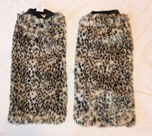 Leopard Leg Warmers. Cyber Clubber Festival faux fur.