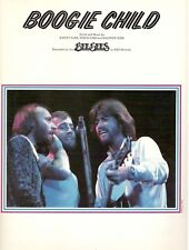 """THE BEE GEES """"BOOGIE CHILD"""" SHEET MUSIC-PIANO/VOCAL/GUITAR/CHORDS-1976-RARE-NEW!"""