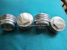 4 NUEVO Preunit TRIUMPH Aluminio Al Espejo TAPONES ROCKER JOHN TICKLE 70-1564