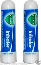 2x Vicks Inhaler for Nasal Congestion Cold Allergy Blocked Nose Fast Relief