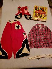 Vintage Pla-Master Play Suit W/ Box. Cowboy size 6