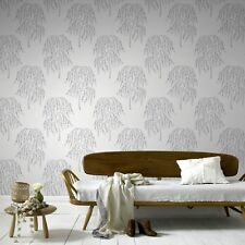 Superfresco Easy Paste the wall Willow Tree Glitter Metallic Silver Wallpaper