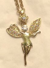 Kirks Folly, Necklace, Charm, Dance Fairy Tinker Bell, Gold-Tone, Retired!! New
