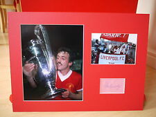 Mounted Alan Kennedy Signed Liverpool FC Card & Photo Display
