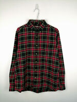 Vintage Mens Flannel Shirt Chaps Size M Multi Check Long Sleeve 100% Cotton Top
