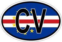 Cape Verde Oval Bumper Sticker or Helmet Sticker D2259 Euro Oval Country Code