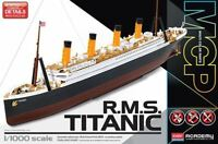 Academy RMS Titanic Snap Molded in Color 1/1000 plastic ship model kit 14217