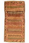 Vintage Tribal Oriental Qashqai Rug, 3'x6', Red, Hand-Knotted Wool Pile