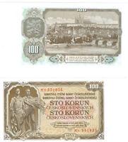 Tschechoslowakei 100 Korun 1953  kassenfrisch  Pick 86b