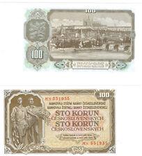 Checoslovaquia 100 Coronas 1953 dinero fresco Pick 86b