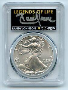 2021 $1 American Silver Eagle Type 2 PCGS PSA MS70 Legends of Life Randy Johnson