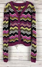 Missoni For Target L Girls Chevron Zig Zag Cardigan Knit Sweater h5