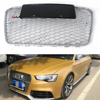A5 Front Mesh Grille Grill for Audi A5 S5 Sline RS5 2012-15 To RS5 Style Silver