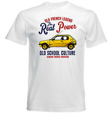 VINTAGE FRENCH CAR PEUGEOT 205 RALLY - NEW COTTON T-SHIRT