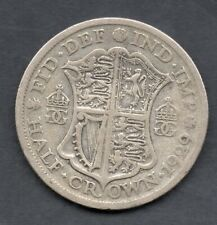 1929 Great Britain King GEORGE V Half Crown Coin