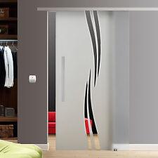 Slimline Soft Stop Glasschiebetür Glas Schiebetür 900x2050mm BM29GE42