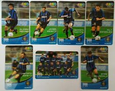 1-2-Call Phone Calling Card Set (7 px) Inter Milan Football Players 2006 Thaiand