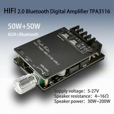 HIFI Wireless Bluetooth 5.0 TPA3116 Digital Audio Power Amplifier 50WX2 Stereo