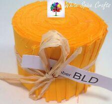 "20 pcs (2.5""x 45"")  Yellow fabric Jelly Roll binding /edging BLD FREE POST AU"