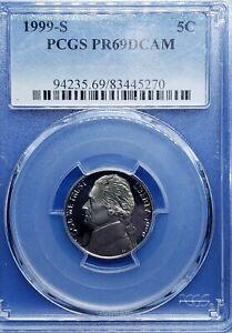 ●《☆♡☆》 1999-S Jefferson Nickel, PCGS PR69. 5C,$0.05 USD GORGEOUS!