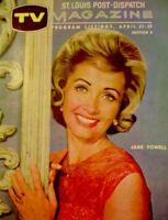 TV Guide 1961 Jane Powell Regional TV Magazine St Louis Dispatch Vintage EX COA