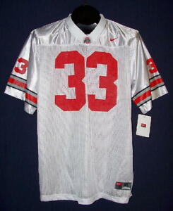 NEW Nike Ohio State Buckeyes #33 White Road Jersey Youth Size SMALL