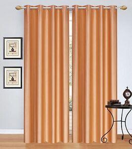 Blackout Room Darkening Curtains Plain Window Door Curtain For Bedroom