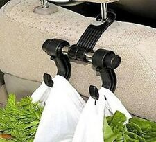 Soporte para Coche Bolsa De Comestibles Gancho Helper doble clip en bolsas de asiento ganchos de almacenamiento AC12