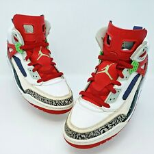 Nike Air Jordan Spizike White Green University Red Grey Shoes Size 12 315371-132