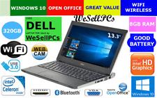 """Dell Latitude 3330 13.3"""" *8Gb *320Gb *Win10 Pro Intel 1.5Ghz Webcam Hdmi Laptop"""