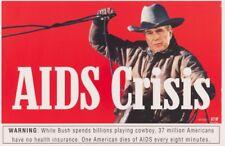 ACTUP George BUSH AIDS cowboy Poster  NYC SUBWAY POSTER Original