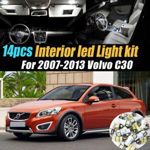 14Pc Super White Car Interior LED Light Bulb Kit Pack for 2007-2013 Volvo C30