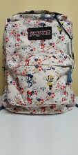 Nwt! Rare Jansport Bookbag Disney Super break Minnie Tiny Floral Free Shipping