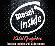 Diesel Inside * Vinyl Decal Sticker Stacks Soot Truck Powerstroke 2500 Turbo 150