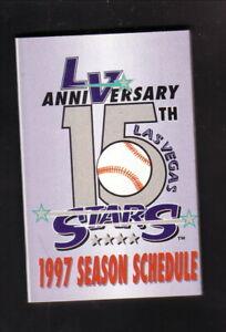 Las Vegas Stars--1997 Pocket Schedule--Budweiser--Padres Affiliate