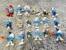 Lot of 19 Vintage Smurf PVC Figures Schleich 1980's