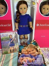 "NEW American Girl SAIGE 18"" DOLL BOOK RING +2 Bonuses '13 CATALOG +NECKLACE Sage"