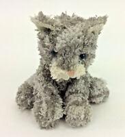 "Russ Grey Tabbie Cat Stripes Blue Eyes Mini 4"" Plush Kitten Stuffed Animal"