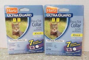 ( 2 ) HARTZ Flea & Tick Collar For Cats & Kittens For 7 Months Break-Away Collar