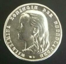 1 GULDEN 1892 QUEEN KONINGIN WILHELMINA - 0.945 SILVER - NETHERLANDS NEDERLAND
