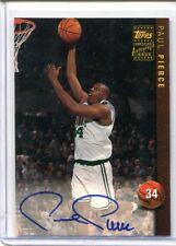 1999-00 Topps PAUL PIERCE Rookie RC Auto Autograph #AG18 Celtics