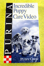 Purina Incredible Puppy Care Video ~ New VHS Video Animal Pet Dog Care Training