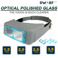 Head Band Lighted Magnifying Glass Magnifier Headset Led Low Vision 4 Lenses