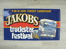 STICKER,DECAL DAF 95 380 JACOBS TRUCKSTAR FESTIVAL ZANDVOORT  BIG SIZE 44 CM